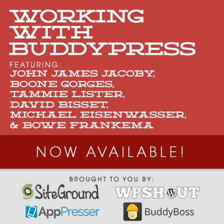Working with BuddyPress
