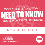 What you didn't know you need to know about WordPress Databases with Gabor Javorsky