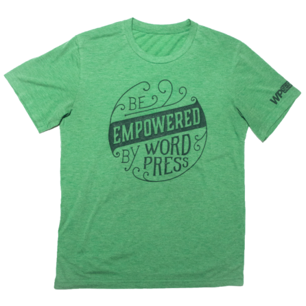 """Be Empowered by WordPress"" t-shirt"
