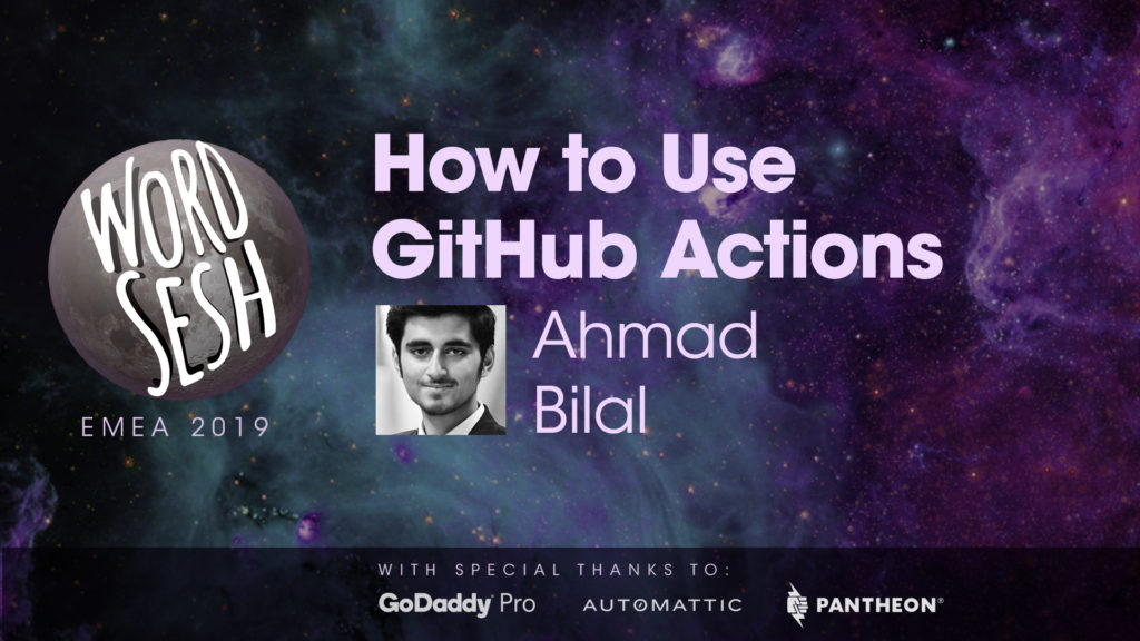 "Title slide for ""How to use GitHub Actions for WordPress Plugin Development"""