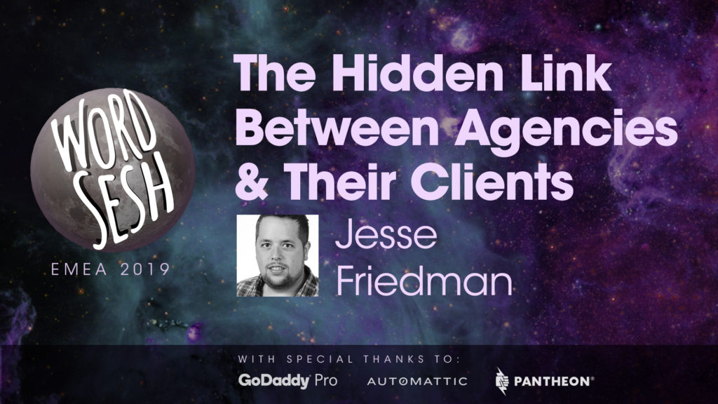 "Title slide for ""Jetpack, the Hidden Link Between Agencies & Their Clients"""