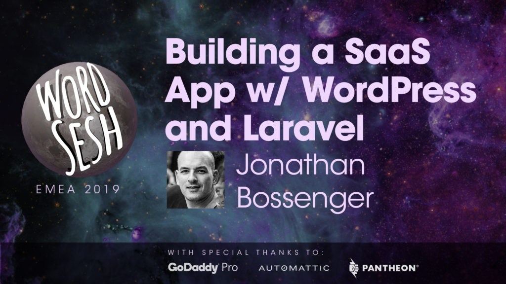 "Title slide for ""Building a SaaS App with WordPress and Laravel"""