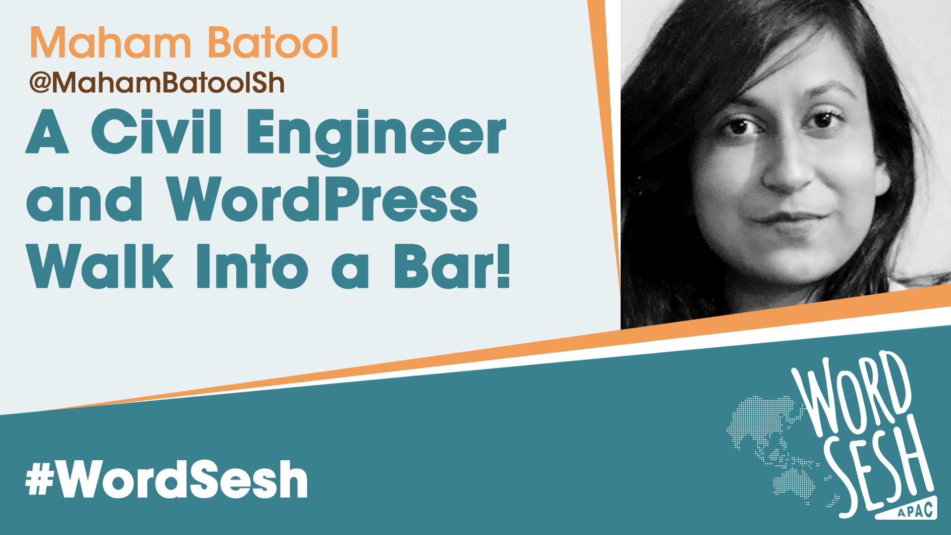Title slide for: Civil Engineer and WordPress Walk Into a Bar!