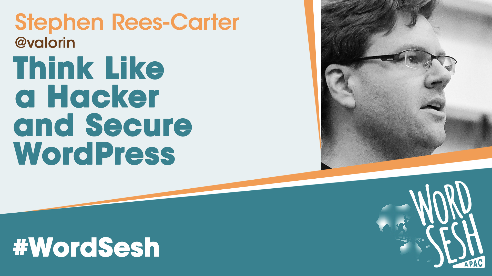 Title slide for: Think Like a Hacker and Secure WordPress