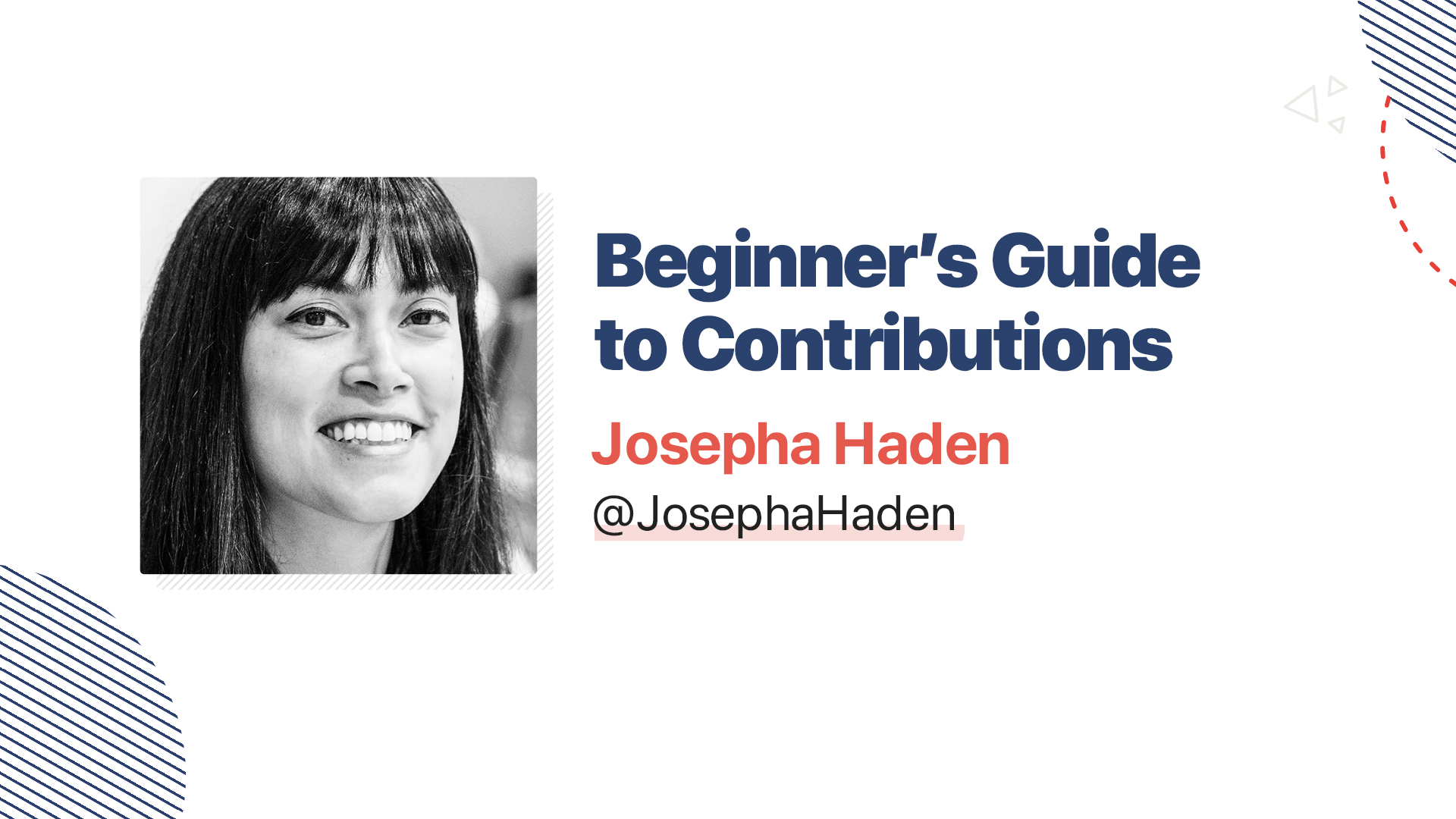 Title slide for: Beginner's Guide to Contributions