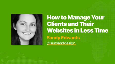 How to Manage Your Clients and their Websites in Less Time - Sandy Edwards